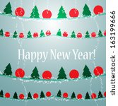 new year garland decorative... | Shutterstock .eps vector #163199666