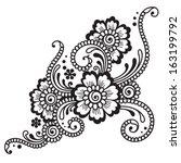 henna ornament.   Shutterstock .eps vector #163199792