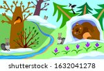colorful picture for children. ... | Shutterstock .eps vector #1632041278