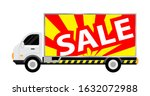 car truck with billboards sale... | Shutterstock .eps vector #1632072988