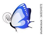 butterflies design | Shutterstock .eps vector #163214372