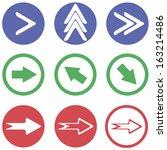 arrows sign icon set