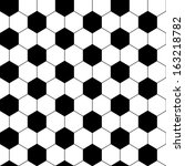 Black And White Hexagon Soccer...