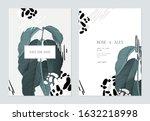 wedding invitation card...   Shutterstock .eps vector #1632218998