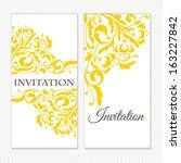 set of invitations | Shutterstock .eps vector #163227842