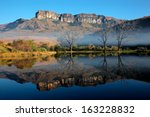 Sandstone Mountains With...