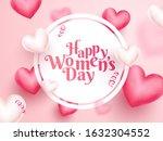 happy women's day text in...   Shutterstock .eps vector #1632304552