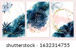 set of card with field flowers  ... | Shutterstock .eps vector #1632314755