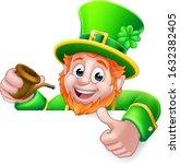 a leprechaun st patricks day... | Shutterstock .eps vector #1632382405