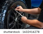 Professional Checking Tire...