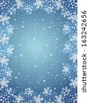 christmas background with frame ... | Shutterstock . vector #163242656