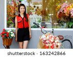 asian girl  portrait with... | Shutterstock . vector #163242866
