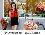 asian girl  portrait with... | Shutterstock . vector #163242866