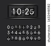 flip clock numbers. retro...