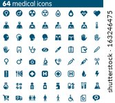 set of 64 vector medical icons | Shutterstock .eps vector #163246475