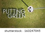 Putting Green On Golf Course...