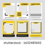 set of minimalist geometric... | Shutterstock .eps vector #1632485602