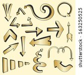 perfect gold arrows with strong ...   Shutterstock .eps vector #163250525