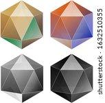 hexagonal diamonds vector.... | Shutterstock .eps vector #1632510355
