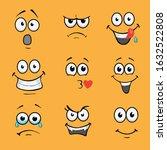 cartoon comic faces. various... | Shutterstock . vector #1632522808