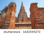 sculpture ancient old pagoda at ... | Shutterstock . vector #1632545272