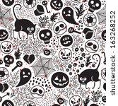 happy halloween  seamless... | Shutterstock . vector #163268252