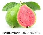 Isolated Guava. One Whole Gree...
