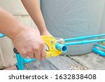 pvc pipe cutting. water pipe...   Shutterstock . vector #1632838408