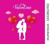 happy valentine day background... | Shutterstock .eps vector #1632862402
