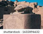 Small photo of Granite Scarab Statue at Amon Temple of Karnak, Egypt - Ancient Egyptian Art