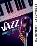 evening of jazz music graphic... | Shutterstock .eps vector #1632948865