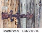 Rusty Old Iron Door Hinge.