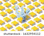 archive. folder in the archives.... | Shutterstock .eps vector #1632954112
