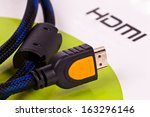 Hdmi Cable Close Up Isolated O...
