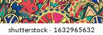 tracery seamless pattern.... | Shutterstock .eps vector #1632965632