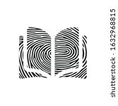 fingerprint open book icon....