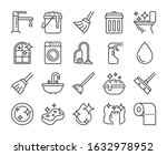cleaning icon. cleaning and... | Shutterstock .eps vector #1632978952