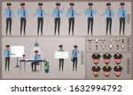 security guard character set....   Shutterstock .eps vector #1632994792