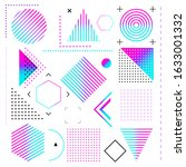 set of color graphic elements...   Shutterstock .eps vector #1633001332