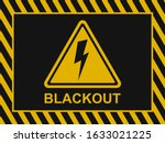 Blackout Banner. Power Outage...
