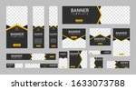 set of creative web banners of... | Shutterstock .eps vector #1633073788