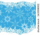 abstract winter framework with... | Shutterstock .eps vector #163308002