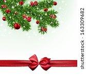 christmas background with fir... | Shutterstock .eps vector #163309682