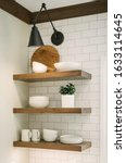 Floating Shelves In A Kitchen