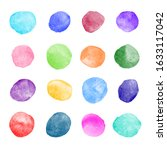 Colorful Watercolor Round Paint ...