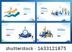 trendy flat illustration. set... | Shutterstock .eps vector #1633121875