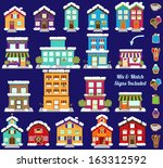 collection of vector christmas... | Shutterstock .eps vector #163312592