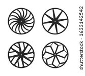 set of motor wheel vector design | Shutterstock .eps vector #1633142542