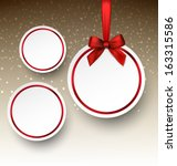 Holiday Paper Round Labels....