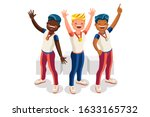 crowd of persons celebrate... | Shutterstock .eps vector #1633165732